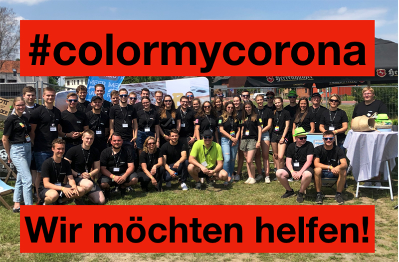 Die Gruppe Color My Life als Colormycorona